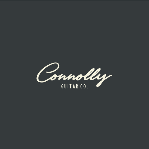 Guitar logo with the title 'Guitar Company Logo'