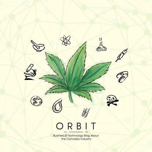 """Marijuana artwork with the title 'Illustration concept for """"Orbit"""" Business and Technology'"""