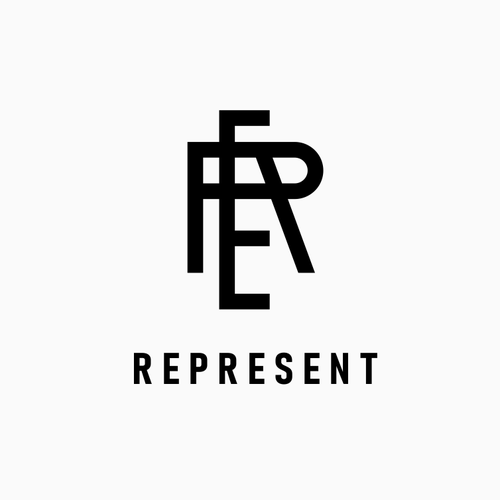 Letter design with the title 'REPRESENT'