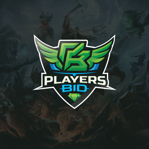 Gamer design with the title 'PlayersBid'