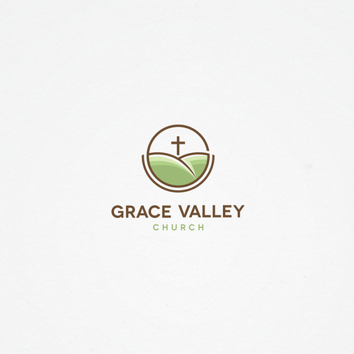 Valley design with the title 'Logo for Grace Valley Church'