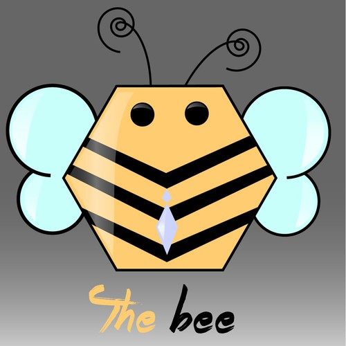 Clipart logo with the title 'The Bee'
