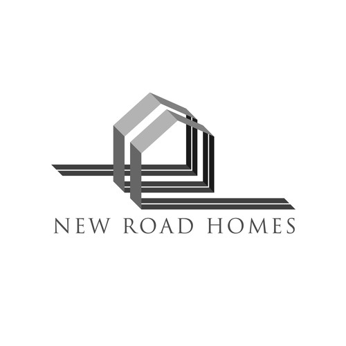 Road logo with the title 'Standout Logo needed for quickly growing residential real estate company, New Road Homes.'