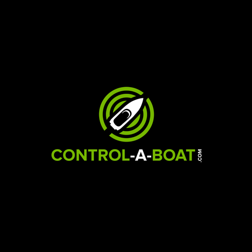 Wi-Fi logo with the title 'Control-a-Boat.com logo design'