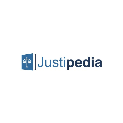 Justice logo with the title 'Help Justipedia.com with a new logo'