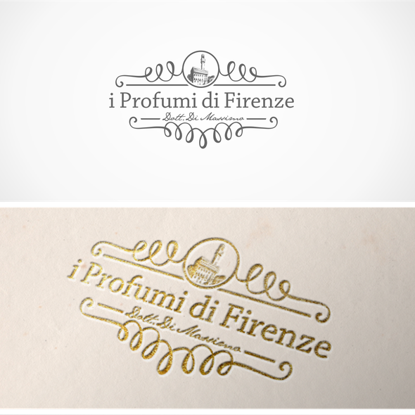 Perfume logo with the title 'Logo for a Perfume Store'