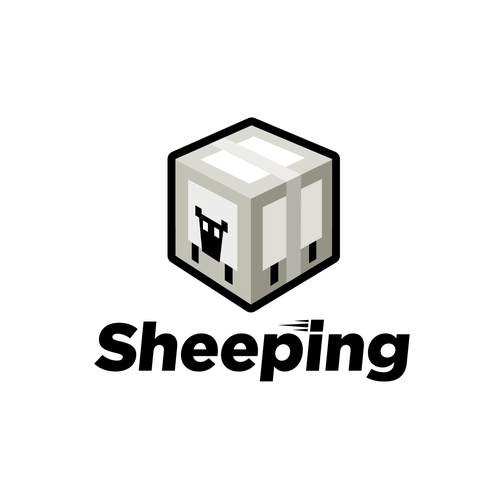 Sheep logo with the title 'Design a logo for a shipping company called Sheeping'