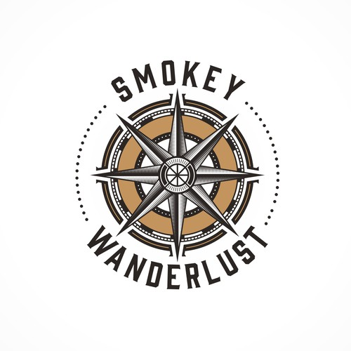 Traveling design with the title 'Smokey Wanderlust'