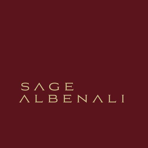 Author logo with the title 'Sage Albenali Logo'