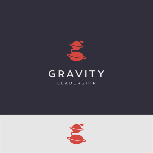 Double meaning logo with the title 'Logo for consulting company - Gravity leadership'