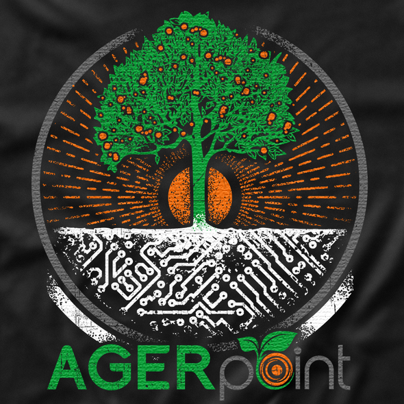 Growing design with the title 'Technological Growing 'Tree' T-shirt'