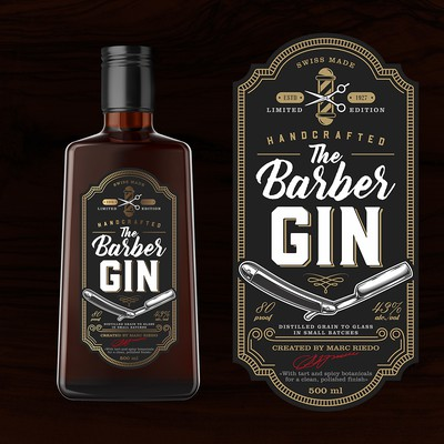 Label The Barber Gin (Swiss)