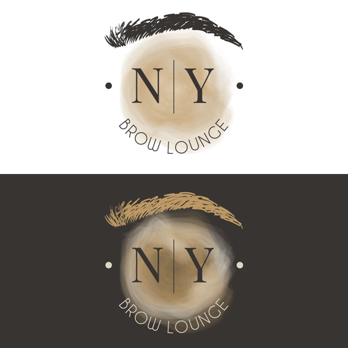 Microblading logo with the title 'Logo for brow lounge '