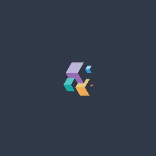 Box logo with the title 'Minimal & Isometric Logo Design'