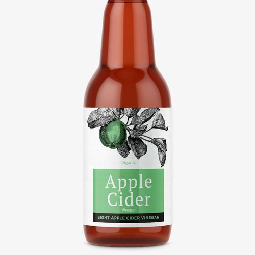 Cider label with the title 'Organic Apple Cider Vinegar'