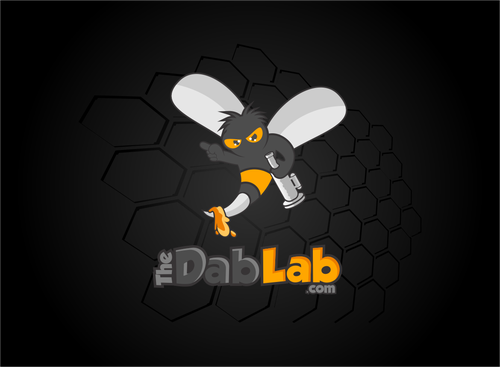 "Bee design with the title 'The Dab Lab (maybe include "".com"" in there too)  with a new logo'"