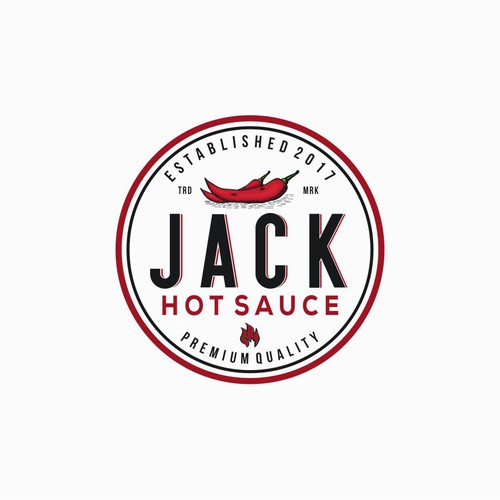 Ketchup logo with the title 'Logo Concept for Jack Hot Sauce'