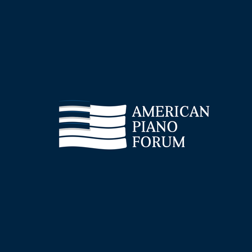 American design with the title 'American Piano Forum logo concept'