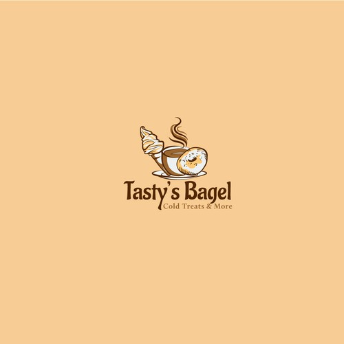Bagel logo with the title 'Tasty Bagels logo'