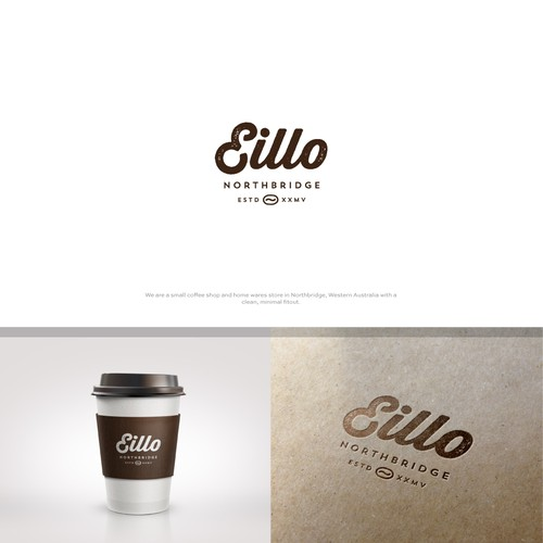Melbourne logo with the title 'Eillo Coffee Shop'