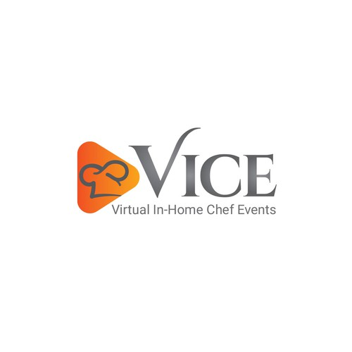 Chef hat design with the title 'VICE_cooking logo'