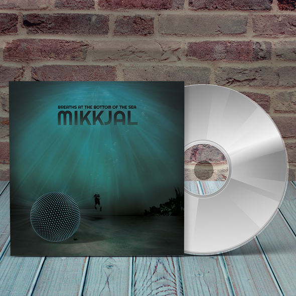 CD packaging with the title 'cd mockup album cover design'