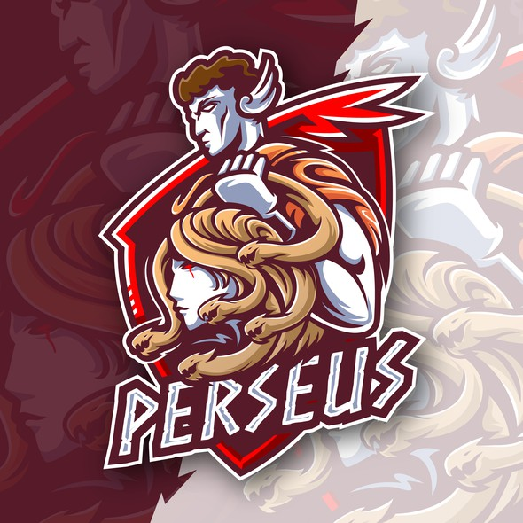 Team logo with the title 'Perseus and Medusa's Head'