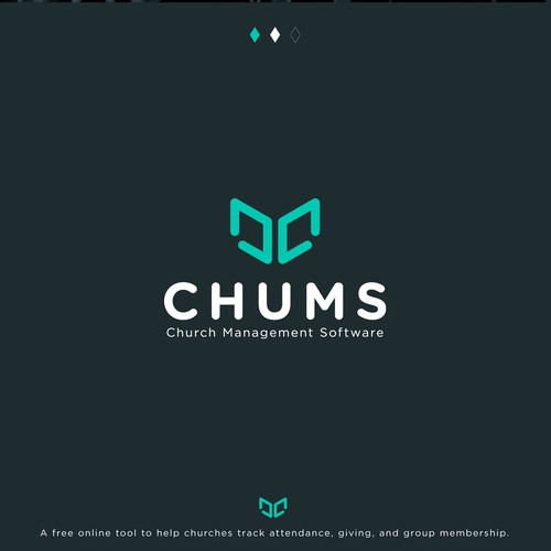 Bible logo with the title 'Chums | Lettermark'