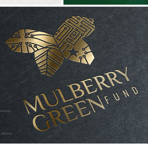 Butterfly logo with the title 'logo for international green-tech investment fund'