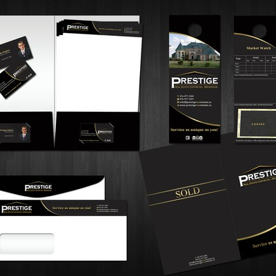 P.r.e.s.t.i.g.e needs a new stationery using your top class design!