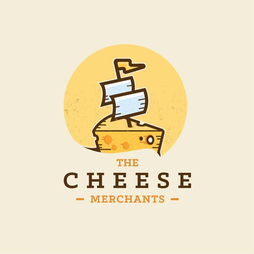 Tasty design with the title 'The Cheese Merchants'