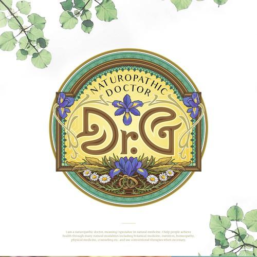 Art Nouveau design with the title 'Dr.G | Art Nouveau logo'