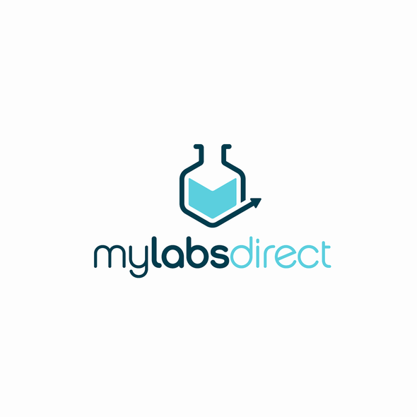 Direct logo with the title 'Logo Redesign for MyLabsDirect '