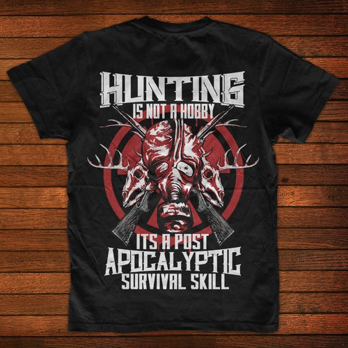 Hunting t-shirt with the title 'Hunter Skull Shirt'