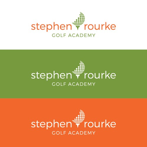 Golf ball design with the title 'Golf academy logo'
