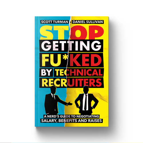 Silhouette book cover with the title 'Stop Getting Fu*ked By Technical Recruiters Book Cover'