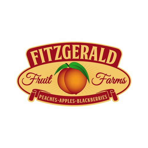 Peach design with the title 'FITZGERALD FRUIT FARMS'