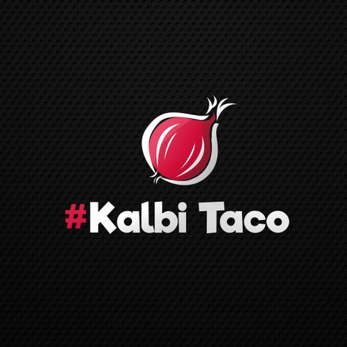 Onion logo with the title 'Kalbi Taco'