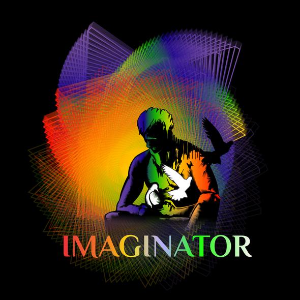 Imagine logo with the title 'Rock Album Cover Design'