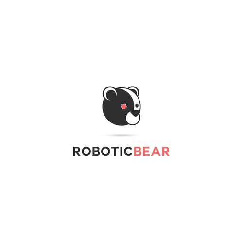 Bear mascot logo with the title 'Funny logo for Music licensing firm'