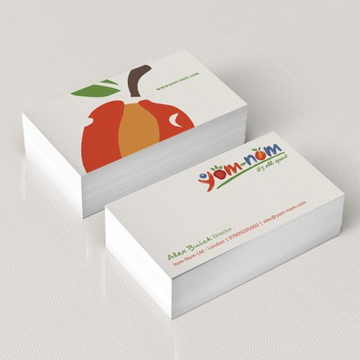 Yom-Nom. it's all good! Business card design required for the exciting New On-the-go Healthy Snack!