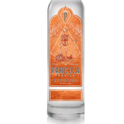 Tequila label with the title 'Label design '