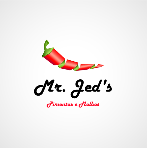 Packaging logo with the title 'New logo wanted for Mr. Jed's Pimentas e Molhos'