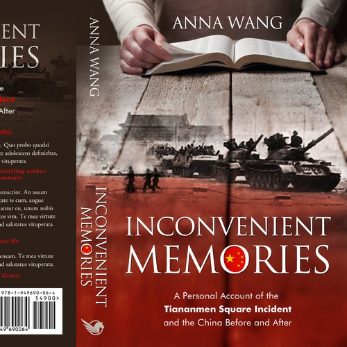 Chinese design with the title 'Inconvenient Memories - A memoir'