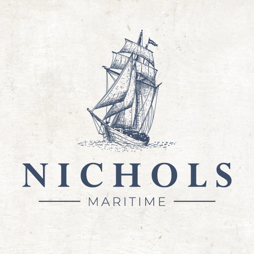 Maritime design with the title 'Vintage Logo for a Maritime Company'
