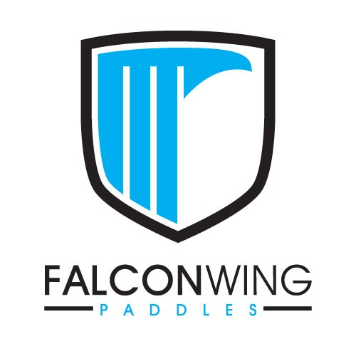 Canoe logo with the title 'Create a bold falcon inspired paddle design for Falcon Wing Paddles'
