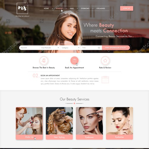 Branding website with the title 'Premium Mackup Artist Web design'