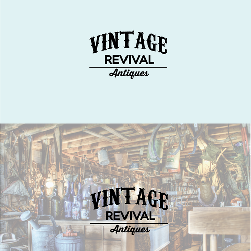 Shabby chic logo with the title 'VINTAGE REVIVAL ANTIQUES---NEW RETAIL STORE IN ATLANTA GEORGIA'