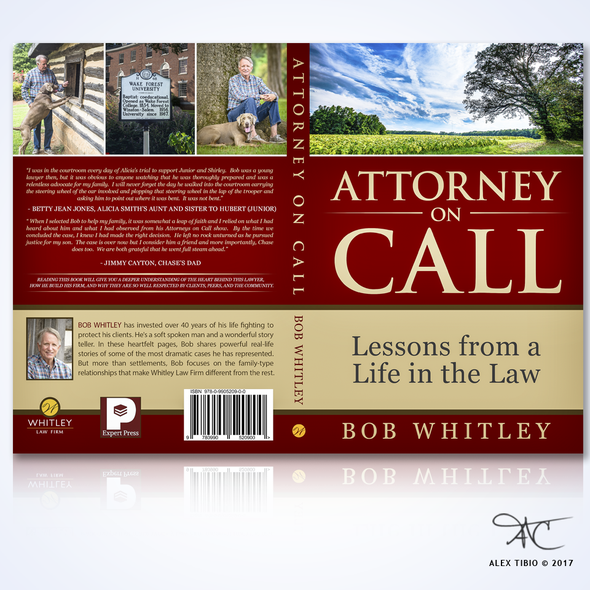 """Law book cover with the title 'Full book Cover Design for Bob Whitley's """" Attorney on Call""""'"""