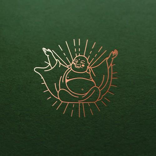 Buddha brand with the title 'Laughing Budha Cannabis Logo'